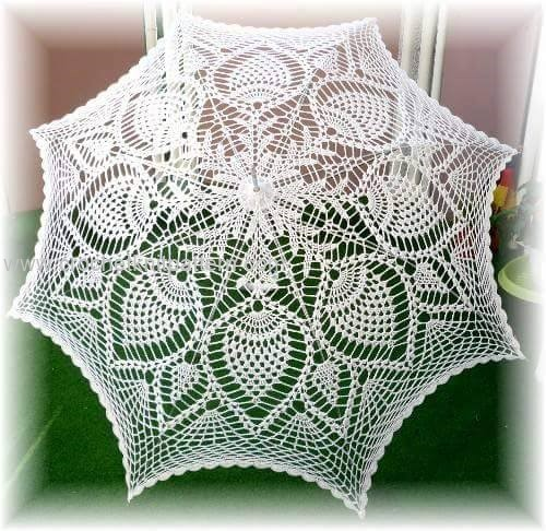 photograph about Umbrella Pattern Printable known as Crochet Umbrellas Archives - Interesting Crochet Layouts and